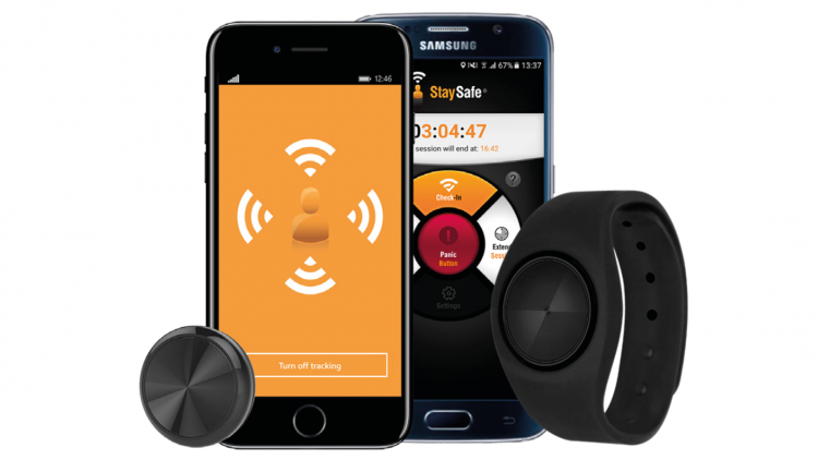 StaySafe Lone worker app and Wearable device